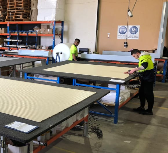Making Roller Shutters In The DHE Group Workshop Australian Made